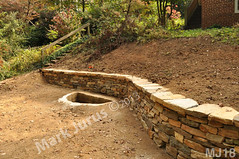 WM Mark Jurus 18, retaining wall, flat cap stones, dry laid stone construction, copyright 2014