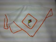Fralda de Boca - Pipa F004 (SaluArts) Tags: de pano cruz infantil bebê boca ponto paninho fralda fraldinha enxoval