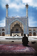 Praying (pcbackup154) Tags: street people man architecture iran prayer pray praying persia mosque esfahan isfahan perisan