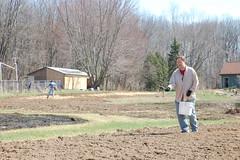 "Mike Scattering Barley Seed <a style=""margin-left:10px; font-size:0.8em;"" href=""http://www.flickr.com/photos/91915217@N00/13920051476/"" target=""_blank"">@flickr</a>"