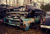 Dodge over Pontiac (steelers_#1fan) Tags: road ontario canada colour art classic abandoned woods rust ruins cloudy guelph dodge mopar amateurs horsepower autowreckers mcleans americanmusclecar 1585mm