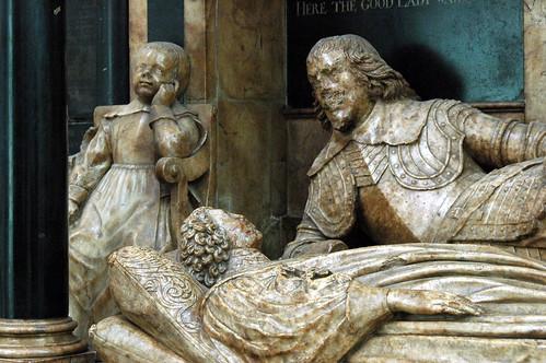 Bath Abbey / Somerset (UK): tomb of a bishop