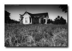 Run-down house in B&W | Ashmore, Illinois (StormLoverSwin93 | Into the Storm) Tags: longexposure light sky blackandwhite bw house black art nature monochrome canon landscape blackwhite illinois dusk oldhouse 60d canon60d canoneos60d ashmoreil ashmoreillinois