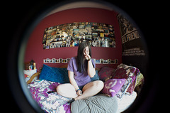 (Amy Fleming) Tags: portrait fish eye self lens photography amy adapter fleming