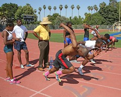 D103881A (RobHelfman) Tags: sports losangeles track highschool practice crenshaw