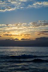 (lkaloti) Tags: ocean blue sunset yellow photography gold hawaii waves waikiki oahu honolulu hnl lightroom canon6d
