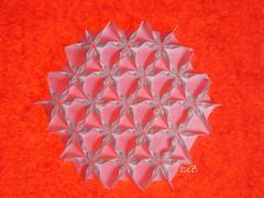 Triangle Twists Flowers (esli24) Tags: origami tessellations origamitessellations origamiflower papierfalten triangletwist esli24 ilsez chantalpixley tessellationflowers