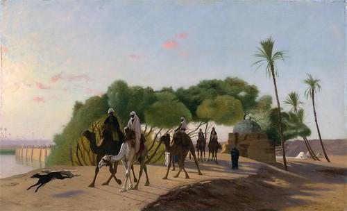 Jean-Léon Gérôme - Leaving the Oasis [1880s]