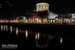 The Four Courts, Dublin (Peter O'Doherty (Dublin)) Tags: ireland bw irish night canon four photography photographer shot random shots picture pic snap liffey photograph courts dslr quays thefourcourts dotsy aroundthecity peterodoherty