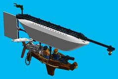 Airship Scout 2 (turbokiwi) Tags: sky lego pirate blimp airship steampunk floatingrock