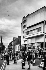 DOJ Degree show 2014 hype! (Chris B70D) Tags: road party people west building work concrete student university dundee celebration busy perth hype end after duncan modernist the doj mathiew jordenstone