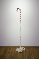 Candy cane _ Mixed media _ Dimensions variable