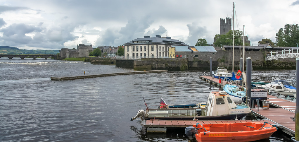 A WALK AROUND LIMERICK CITY IN JUNE - BEHIND THE CITY'S TAX OFFICE