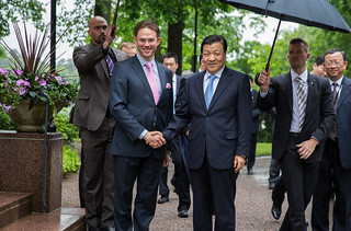 PMI Jyrki Katainen met with Liu Yunshan, a member of the Communist Party of China Politburo Standing Committee, on 12–15 June 2014