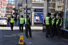 A group of Police Officers, in Newcastle City Centre. (Raymondo166) Tags: city backup english newcastle during march support centre protest lot police northumbria through protection defence league protestors providing livery edl liveried