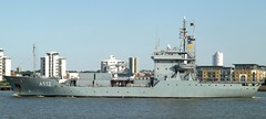 FGS Mosel A512 (5) @ Gallions Reach 18-05-14 (AJBC_1) Tags: london boat ship military navy vessel riverthames nato warship gallionsreach germannavy a512 5minensuchgeschwader ajc 5thminesweepingsquadron elbeclasstender dlrblog