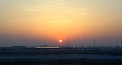 Sunrise in Qatar (DOHA International Airport) (Csaba_Bajko) Tags: sunrise airport aircraft arabian doha qatar napfelkelte