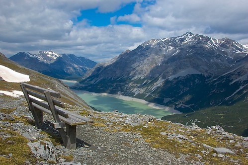 A bench with a view by johnomason, on Flickr