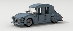 Citroen 2CV (LegoGuyTom) Tags: old city classic cars car digital vintage french lego pov designer farm famous citroen 1940s 1950s legos 1960s 1970s 1980s 1990s povray ldd citycar legocity legodigitaldesigner
