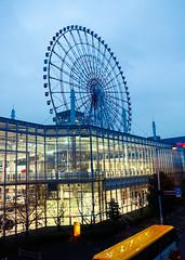 Odaiba Ferris Wheel and Palette Town at night (karebear_stare) Tags: tourism japan tokyo ferriswheel odaiba palettetown