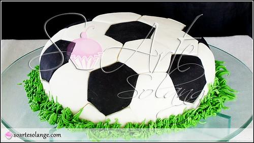 Bolo Decorado – Bola de Futebol / Copa