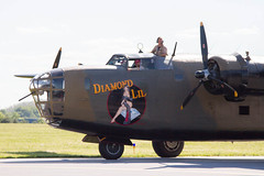 2014 WWII Weekend-1365.jpg (Scott Alan McClurg) Tags: summer airplane army fly flying aircraft military wwii sunny bluesky airshow worldwarii ww2 airforce bomber roar liberator warbird b24 worldwar2 maam midatlanticairmuseum armyaircorps fullscale diamondlil