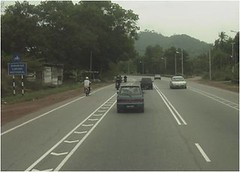 Inclusive motorcycle lane in Malaysia
