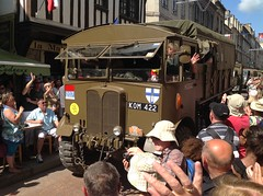 Normandy 70th D-Day anniversary (South Strand Trucking) Tags: france museum army track jeep 4x4 crowd cargo parade ww2 parachute aec roundcanopy