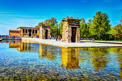 Ancient Egyptian Temple of Debod in Madrid Spain (mbell1975) Tags: madrid monument water museum temple pond spain ancient europe eu musee espana spanish egyptian museo hdr templo debod communityofmadrid ilobsterit