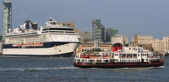 Ships of the Mersey - Celebrity Infinity & Royal Iris (sab89) Tags: cruise celebrity ferry liverpool river waterfront infinity ships terminal estuary ferries mersey liner