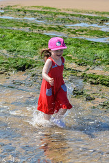 Nearly There (karllaundon) Tags: family sea summer sun cute beach fun happy seaside day child laugh northeast rockpool redcar