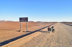Desert views of Dorob National Park (jbdodane) Tags: africa bicycle cycletouring cycling cyclotourisme damaraland day576 desert dorob dorobnationalpark gravel namibia road sign velo freewheelycom d2303 jbcyclingafrica