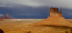 The Mitten with hail and dark sky on the back ([MarcoB]) Tags: arizona usa monument america canon eos rebel utah valley western navajo monumentvalley 2014 t5i canont5i
