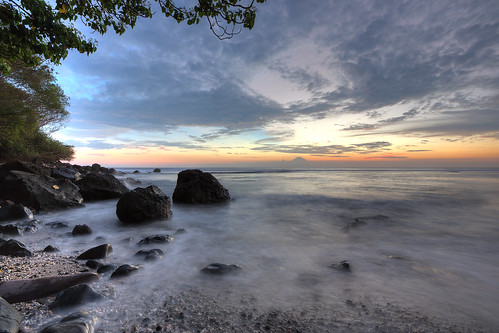 Sunset at Mangsit Beach, Lombok, Indonesia
