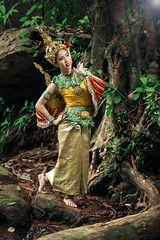 Fantastic (Fevzi DINTAS) Tags: portrait people tree cute bird tourism nature girl beauty lady angel forest pose asian thailand photography fantastic model asia pretty alone outdoor walk traditional places visit legendary jungle thai destination cultural nationalgeographic paza140