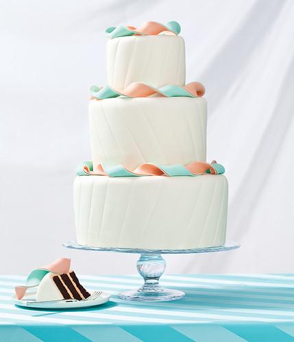 Boston Wedding Magazine Ribbon Streamers Cake