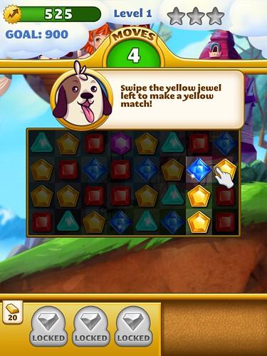 Jewel Mania Tutorial: screenshots, UI