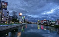 Fukuoka blue hour (acase1968) Tags: sky storm japan clouds river lens nikon cloudy dusk watching fukuoka nikkor naka 那珂川 d600 f28g 1424mm