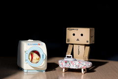 Danbo - Housekeeping (Jacopo.Colombo) Tags: iron washingmachine housekeeping 135mm 6d danbo lseries 135f2 revoltech canon6d danboard canon135f2 canoneos6d danbolove