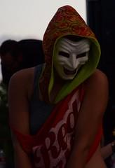 Hula Hooper (Adventurer Dustin Holmes) Tags: people costume mask events event performers performer springfieldmissouri 2014 springfieldmo summerbazaar cstreetcitymarket