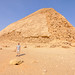Bent Pyramid featuring the original polished limestone outer casing that the