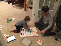 "Daddy and Paul Play Matching Bingo • <a style=""font-size:0.8em;"" href=""http://www.flickr.com/photos/109120354@N07/32268540054/"" target=""_blank"">View on Flickr</a>"