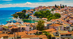 Skiathos Town (Gilbert Kuhnert) Tags: aegaeum aegaeummare aegeis aigaîonpélagos aigaîos berg berge bergen blau blauw blue boat boot bot cafe center centrum church egedenizi egeopelagos eiland ellás grece greece griechenland griekenland hafen harbour haven hellas hotel insel island jacht kerk kirche kneipe landscape landschaft landschap mareaegaeum mediterranean middellandsezee mittelmeer mountains orange oranje scenery schiff schip ship skiathos sporaden sporades transport yacht zentrum aegaeis aegeansea agais egeischezee egeïschezee ägäis αιγαίοπέλαγοσ αἰγαιονπέλαγοσ αἰγαιοσaigaîospóntos αἰγαιοσπόντοσ ελλάδα ελλάσ καφενεíο σκιάθοσ σποράδεσ καφενειον