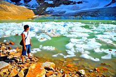 Melt pond on Angel Glacier, Jasper National Park, Canada (leo_li's Photography) Tags: parcnationaljasper jaspernationalpark 亞伯達 落基山脉 glacier 冰河 浮冰 meltpond angelglacier alberta canada 加拿大 亞伯達省 canadianrockymountains rockymountains 洛磯山脈 parc national jasper 艾伯塔省 艾伯塔
