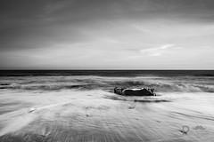 Steadfast (Pixi.St) Tags: whitby yorkshire yorkshiremoors uk england beach sand strand küste meer sea waves wellen rock fels brandung surf nd neutraldensity longexposure langzeitbelichtung bw sw blackwhite schwarzweis
