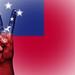 Peace Symbol with National Flag of Samoa