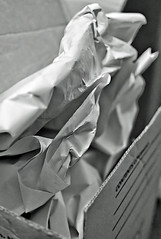 A Box Of Wrinkles (Signing Off Today-See U In A Week!) Tags: odc wrinkles paper packing box bw