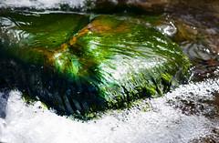 Slippery (Karen McQuilkin) Tags: moss rock creek water flow slipery slippery green karenmcquilkin