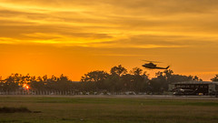 Sunset over Ratmalana Airforce Base