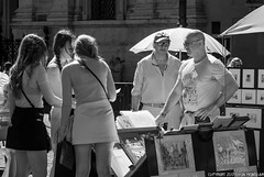 DSC_8360: Street sellers in Piazza Navona (Colin McIntosh) Tags: rome nikon d80 kolari infra red filter 720nm 1685 vr candid